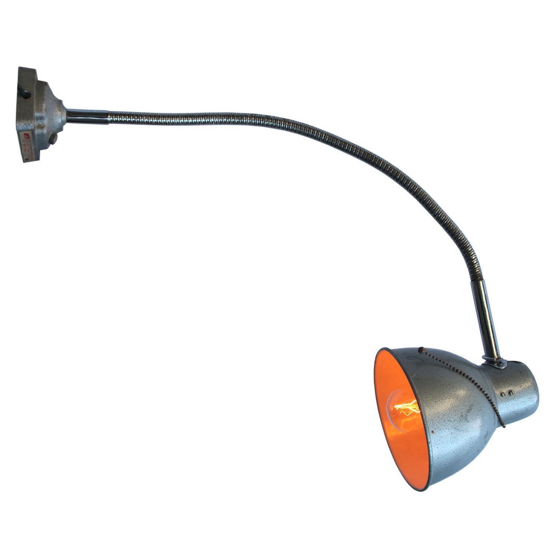 Gray Metal Goose Neck Work Table Light Wall Lights Scones