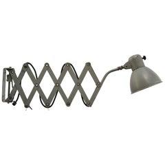 Gray Metal Scissor Vintage Industrial Wall Light Scone by SIS