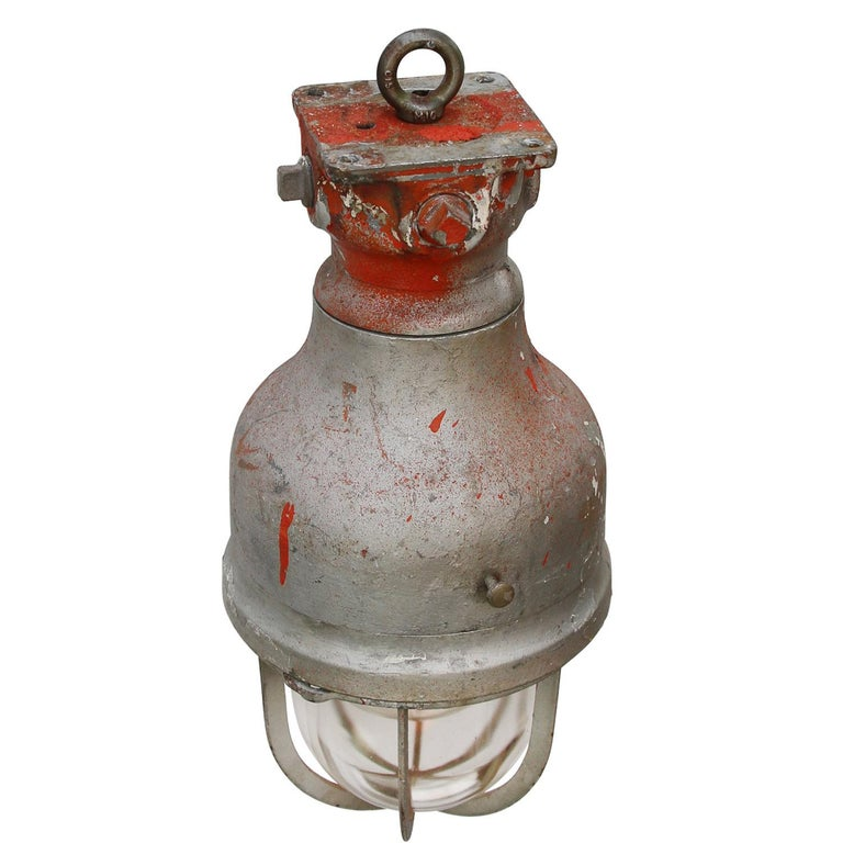 Large Crouse Hinds bully. American industrial light.   Weight: 10.20 kg / 22.5 lb  Priced per individual item. All lamps have been made suitable by international standards for incandescent light bulbs, energy-efficient and LED bulbs. E26/E27