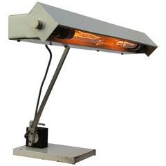 Gray Metal Vintage Industrial Double Desk Tabel Light