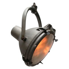Gray Metal Vintage Industrial Frosted Glass Crouse Hinds Pendant Spot Light