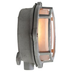 Gray Metal Vintage Industrial Frosted Glass Wall Lamps Scones