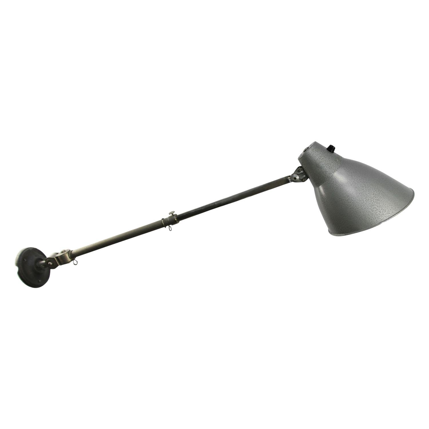 Gray Metal Vintage Industrial Wall Work Light