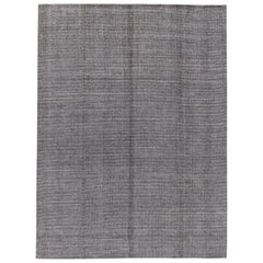 Apadana Gray Modern Bamboo or Silk Boho Handmade Rug
