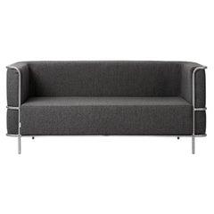 Gray Modernist 2 Seat Sofa by Kristina Dam Studio