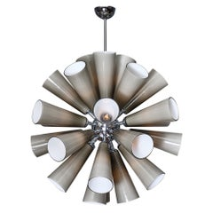 Gray Murano Glass Sputnik Chandelier