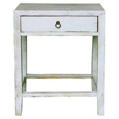 Gray One-Drawer Side Table