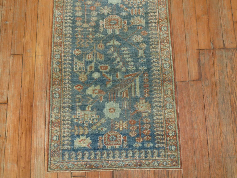20th Century Gray Persian Malayer Narrow Runner For Sale