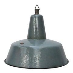 Gray Petrol Enamel Vintage Industrial Pendant Lights
