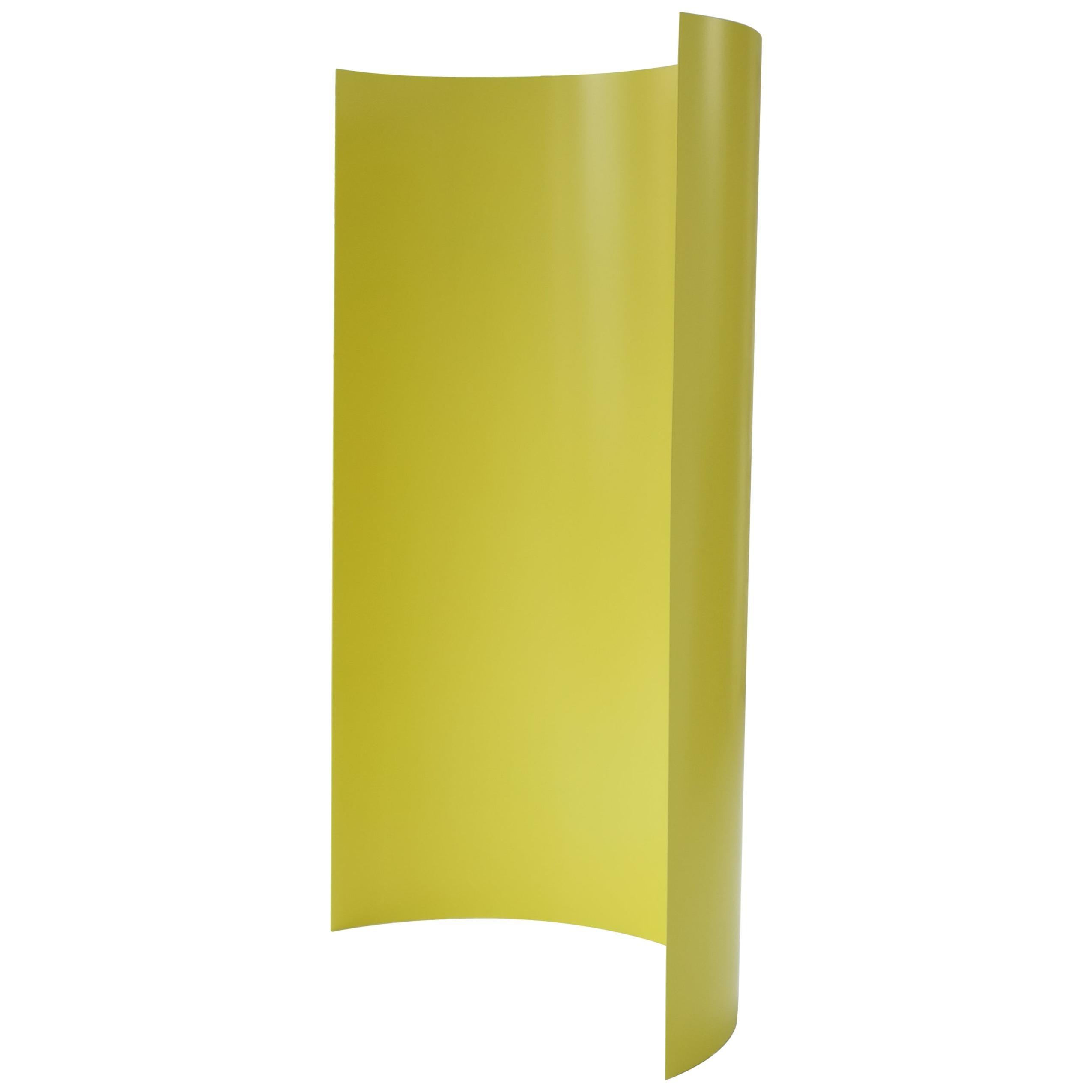 Gray Screen, Yellow, Curved Aluminium Dressing Screen Room Divider