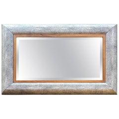 Gray Shagreen Mirror