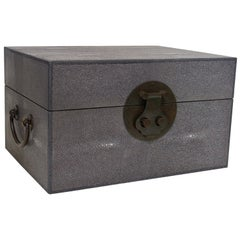 Gray Shagreen Wood Box FINAL CLEARANCE SALE