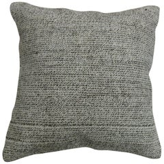Gray Speckled Turkish Kilim Pillow