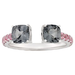 Gray Spinel Wrap Ring, 1.48 Carats