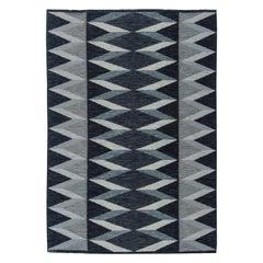 Gray Swedish Flat-Weave Rug by Nordiska Kompaniest