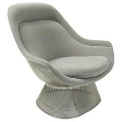 Gray Velvet Lounge Chair by Warren Platner for Knoll International