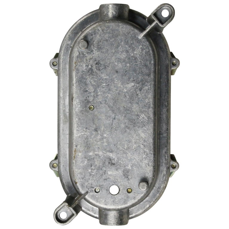 Gray Vintage Industrial Frosted Glass Wall Lamps Scones In Good Condition For Sale In Amsterdam, NL