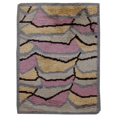 Gray Vintage Swedish Rya Rug