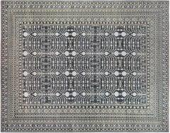 Gray Ziegler Style Area Rug with Pomegranate Design