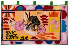 Gay Black Cats MC -- Tapestry, Contemporary Art by Grayson Perry