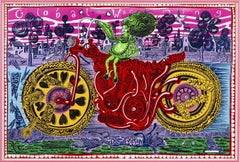 Selfie with political causes -- Print, Lithograph, Contemporary by Grayson Perry