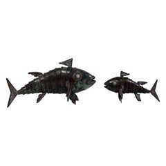 Graziella Laffi Articulated Fish Sculptures