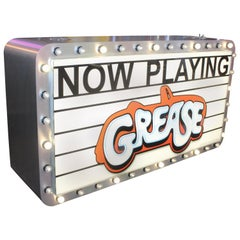 Grease Marquee Double Sided Light Up Sign