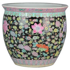 Great 20th Century Chinese Porcelain Fishbowl / Planter for Flower Jardinière