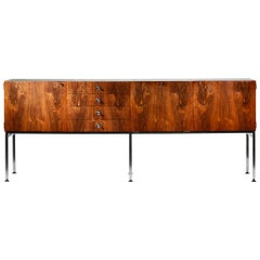 Great Alain Richard Large Sideboard of 1960s for Meuble TV French Design 1960