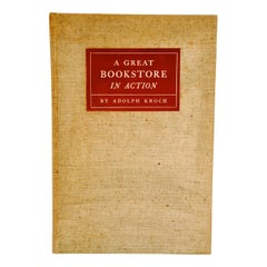 Great Bookstore in Action by Adolph Kroch, Signed First Edition