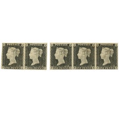 Great Britain 1840 1d Grey Black Plate 1a, Sg3 Antique Postage Stamps