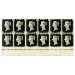 Great Britain 1840 Penny Black mint block of 12, SG2