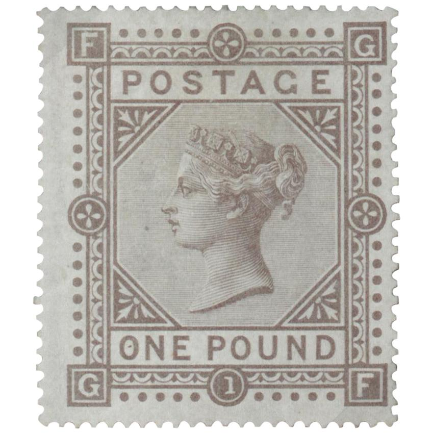 Great Britain 1878 '26 September' £1 Brown-lilac 'Plate 1' SG129 Postage Stamp