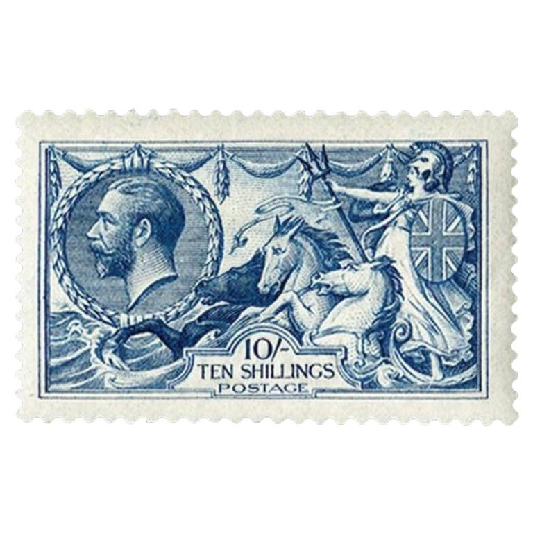 Great Britain 1915 10s Deep Blue Postage Stamp - SG411 For Sale