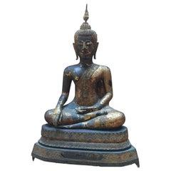 """Great Buddha Ayutaya Sitting in Lotus Position """"Virasana"""""""