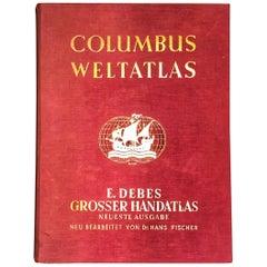 Großer Columbus Welt Atlas H. Wagner U. Debes, 1936