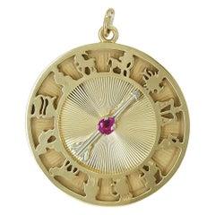 Great Dankner Gold Astrological Charm