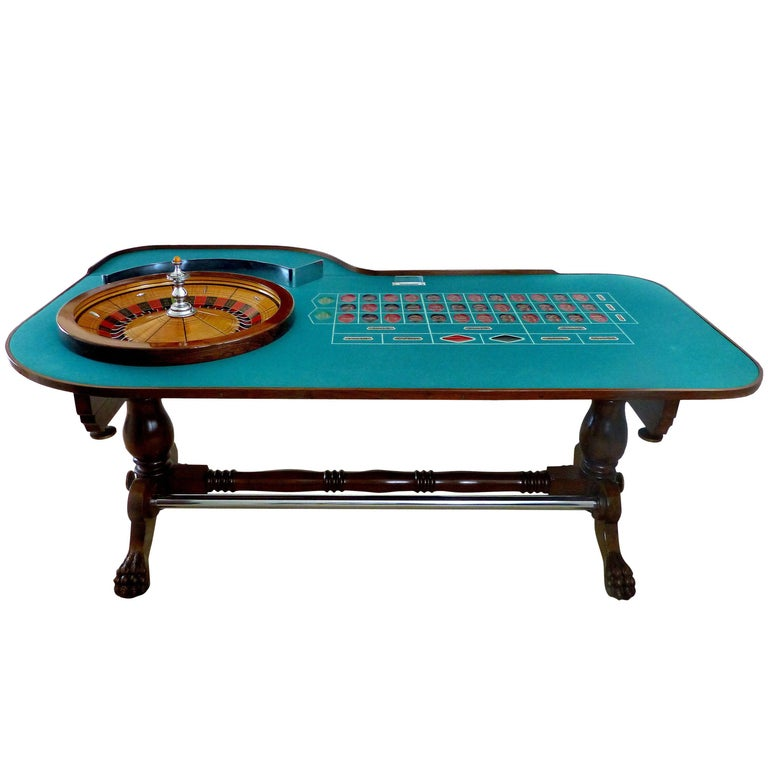 Shop Craps Coffee Table: Great Gatsby Era 1920s Mahogany Roulette Table From O