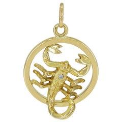 Great Gold and Diamond Scorpio Charm
