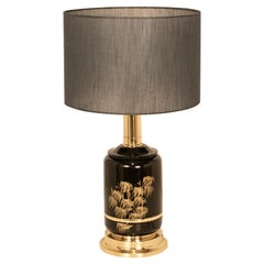 Great Lamp, Brass and Lacquered by Clar, Spain, 1970s, Midcentury, Black