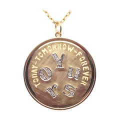 Great Large Gold & Diamond Yours Charm