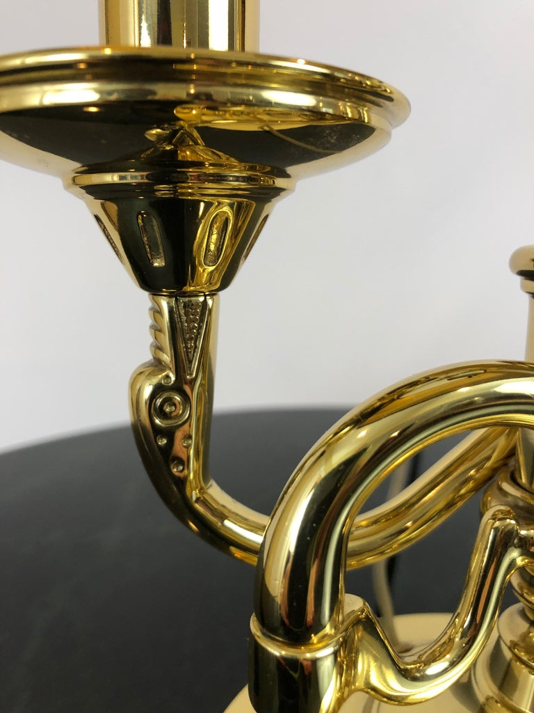 Late 20th Century Great Looking 2-Arm Brass Table Lamp by Baldwin For Sale