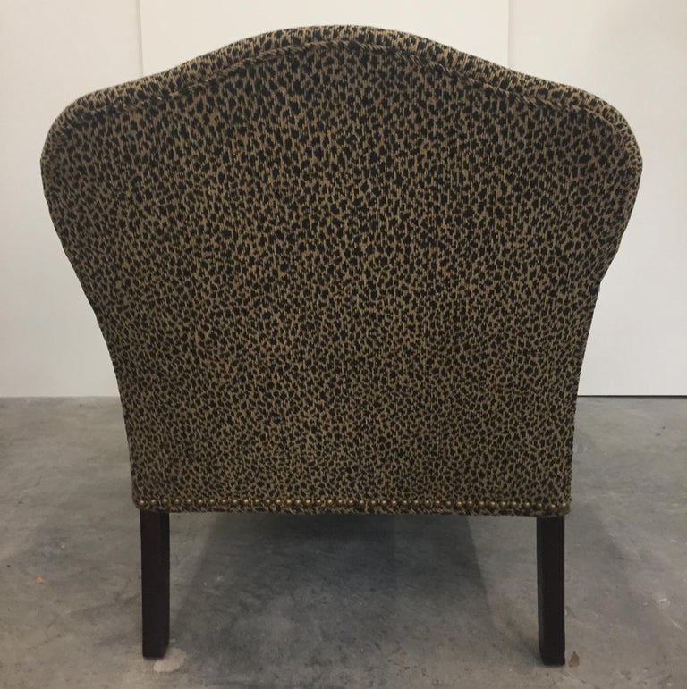 Great Looking Faux Leopard Vintage Chaise Lounge at 1stdibs
