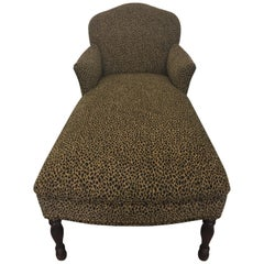 Great Looking Faux Leopard Vintage Chaise Lounge