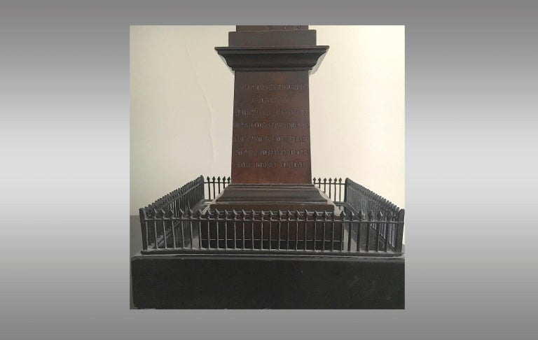 Great Obelisk in Patinated Bronze, First Half of 19th Century In Excellent Condition For Sale In Saint-Ouen, FR