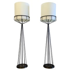 Great Pair of Floor Lamps in the style of Tony Paul