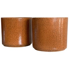 Great Pair of Midcentury Planters by Gainey Pottery