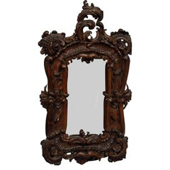 Great Picture Frame with Baroque Style Carvings, circa 1920