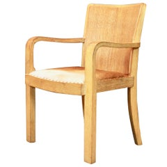 Great Scale Armchair in Cerused Oak and Leather