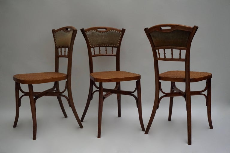 Great Set of 40 Art Nouveau Chairs, circa 1900 In Good Condition For Sale In Antwerp, BE